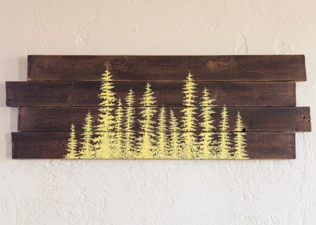 15 Extremely Easy Diy Wall Art Ideas For The Non Skilled Diyers Pertaining To Wood Art Wall (Image 1 of 10)