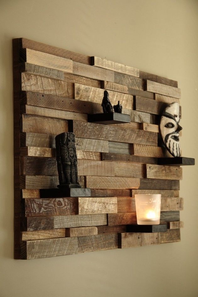 16 Magnificent Examples Of Reclaimed Wood Wall Art | Woodworking Intended For Reclaimed Wood Wall Art (Image 1 of 10)