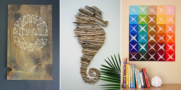 16 Spectacular Diy Wall Art Projects That Will Beautify Your Home Within Diy Wall Art (Image 2 of 10)