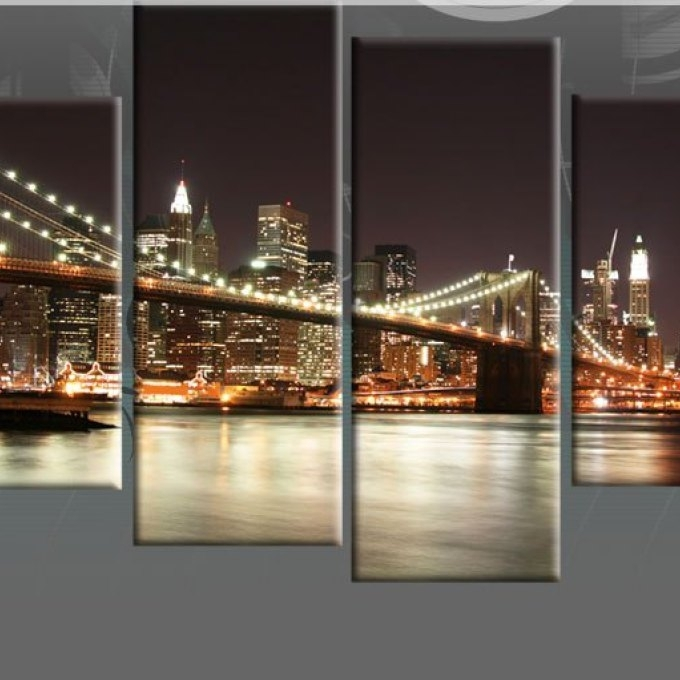 2 New York Canvas Wall Art, Wall Art Ideas Design : Zoom New York Within New York Canvas Wall Art (Image 1 of 10)