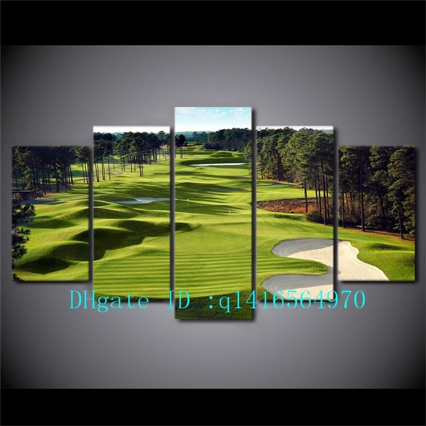 2018 Golf Course,canvas Prints Wall Art Oil Painting Home Decor Inside Golf Canvas Wall Art (Photo 7 of 10)