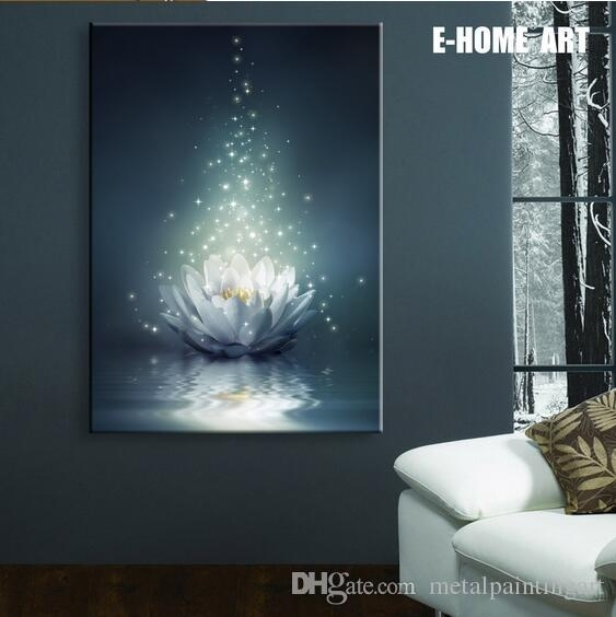2018 Led Lights Wall Art Canvas Spray Painting Light Up Framed Intended For Led Wall Art (Image 1 of 10)
