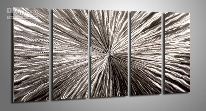 2018 Metal Oil Painting,abstract Metal Wall Art Sculpture Painting With Bronze Wall Art (Photo 7 of 10)
