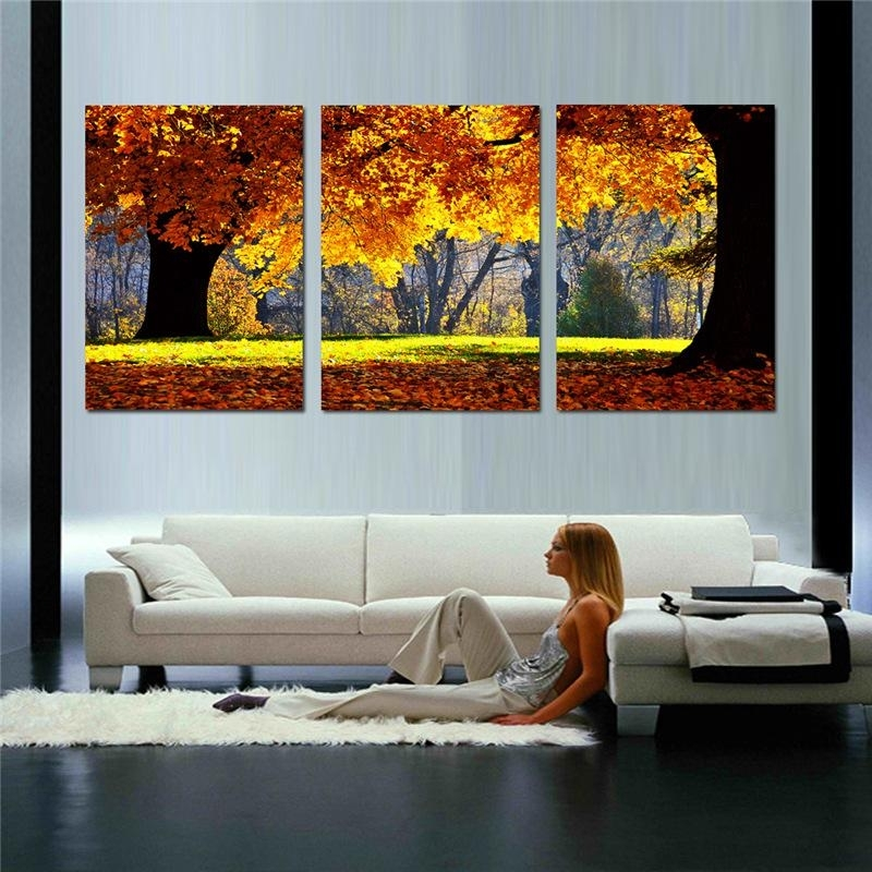 2018 Nature Canvas Art Painting Scenery Pattern For Living Room Wall Inside Nature Wall Art (Image 1 of 10)
