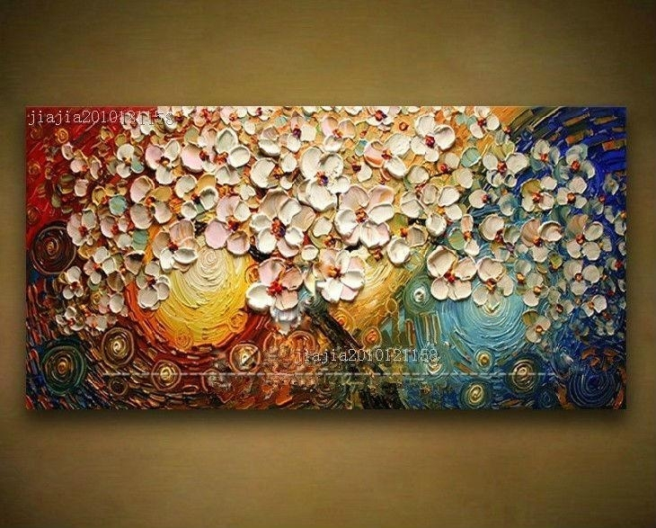 2018 Wholesale Handpainted Canvas Wall Art Abstract Painting Modern Intended For Modern Abstract Painting Wall Art (View 8 of 10)