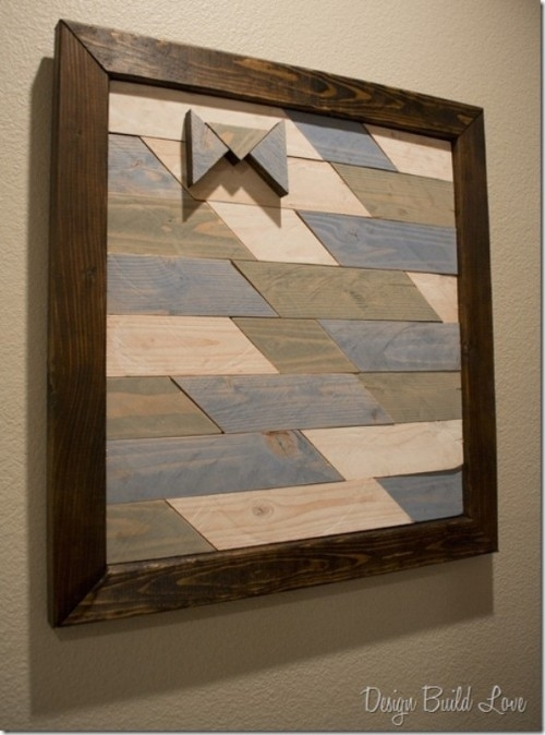 21 Diy Wood Wall Art Pieces For Any Room And Interior – Shelterness In Diy Wood Wall Art (Image 3 of 10)
