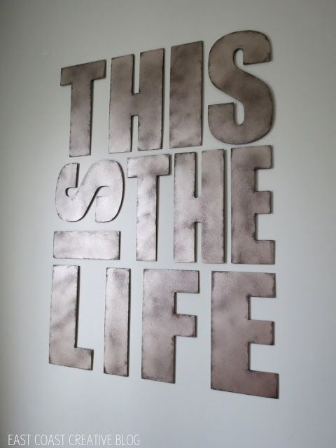 Featured Image of Metal Letter Wall Art