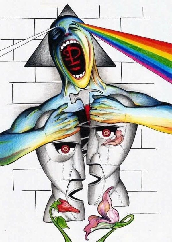 240 Best Pink Floyd Art Images On Pinterest Groups Poster Pink Floyd Inside Pink Floyd The Wall Art (View 7 of 10)