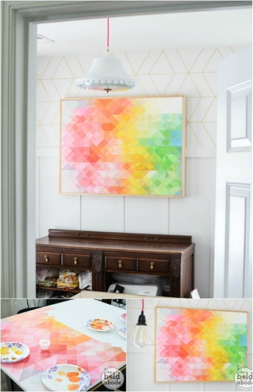 26 Easy And Gorgeous Diy Wall Art Projects That Absolutely Anyone With Regard To Diy Wall Art Projects (Photo 6 of 10)