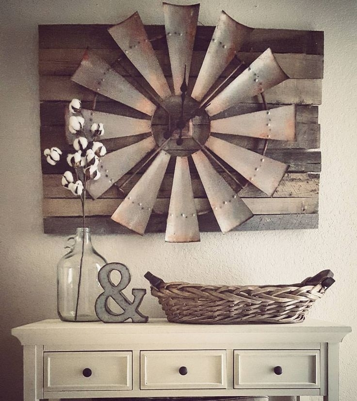 27 Rustic Wall Decor Ideas To Turn Shabby Into Fabulous | Home Sweet Throughout Windmill Wall Art (Image 2 of 10)