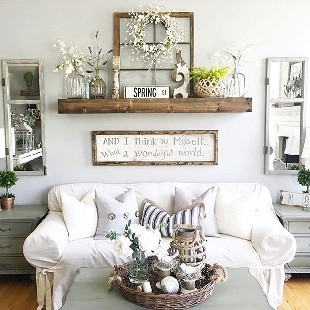 27 Rustic Wall Decor Ideas To Turn Shabby Into Fabulous | Living With Living Room Wall Art (Photo 1 of 10)