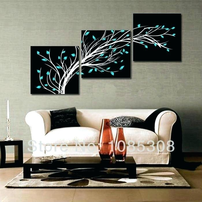3 Piece Abstract Wall Art Home Decor 3 Piece Canvas Wall Art Oil Pertaining To 3 Piece Canvas Wall Art (Photo 8 of 10)