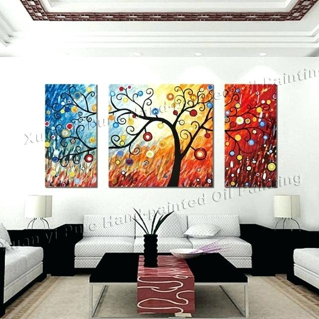3 Piece Wall Art 3 Piece Canvas Wall Art Large Modern Abstract Wall Pertaining To 3 Piece Canvas Wall Art (Photo 9 of 10)