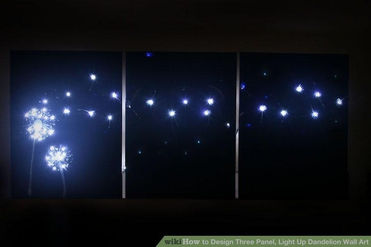 3 Ways To Design Three Panel, Light Up Dandelion Wall Art Intended For Light Up Wall Art (Photo 8 of 10)