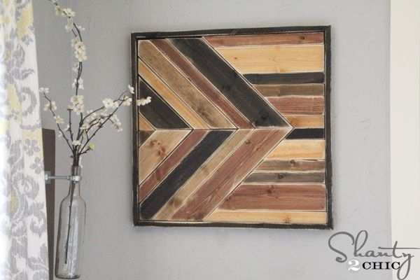 30 Fantastic Diy Pallets Wall Art Ideas Intended For Pallet Wall Art (Image 3 of 10)
