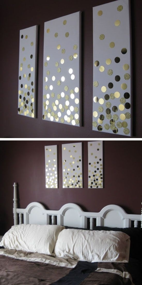 35 Creative Diy Wall Art Ideas For Your Home | Diy Home Decor For Gray Canvas Wall Art (Image 3 of 10)