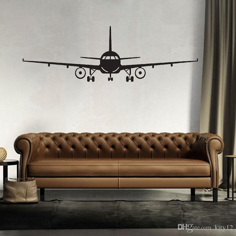 3D Airplane Wall Stickers Muraux Wall Decor Airplane Wall Art Decal With Regard To Aviation Wall Art (View 5 of 10)