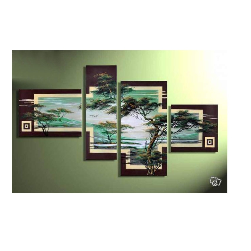 4 Piece Cheap Modern Canvas Art Decoration Oil Living Room Wall In Multi Piece Wall Art (Image 2 of 10)