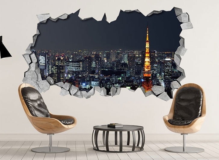 40 Coolest 3D Wall Decals & Stickers For Bedrooms – Awesome Stuff 365 Pertaining To Cool Wall Art (Image 1 of 10)