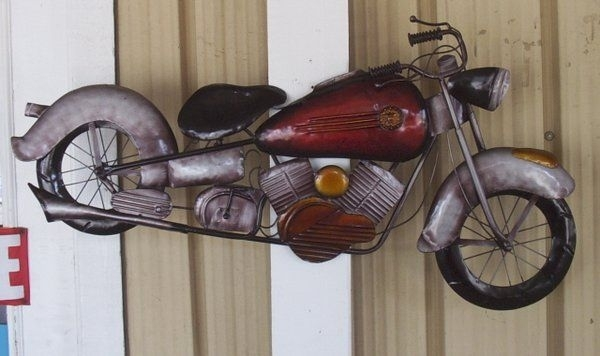 40 Inch Metal Motorcycle Wall Art | The Boys | Pinterest | Scooters Intended For Motorcycle Wall Art (Image 1 of 10)