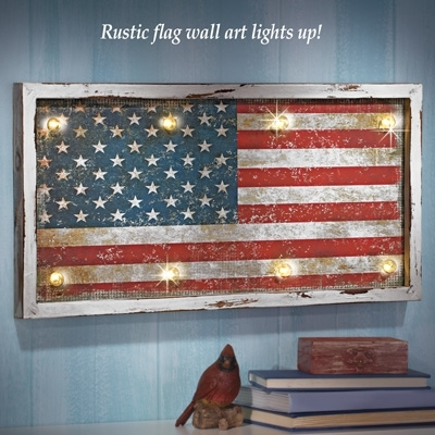 44 Rustic American Flag Wall Art, Reclaimed Rustic Pallet American Within Rustic American Flag Wall Art (Image 1 of 10)