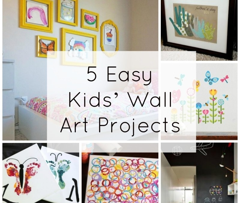 5 Easy Kids' Wall Art Projects | Fine Art Mom Intended For Kids Wall Art (Image 1 of 10)