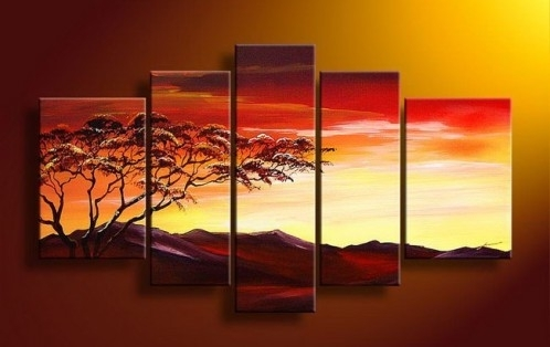 5 Piece Art, 5 Piece Canvas Art Sets With 5 Piece Canvas Wall Art (Image 2 of 10)
