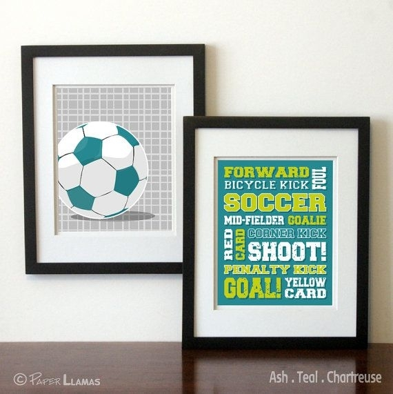 57 Best Will's Room Images On Pinterest | Nursery, Child Room And With Regard To Soccer Wall Art (Image 1 of 10)