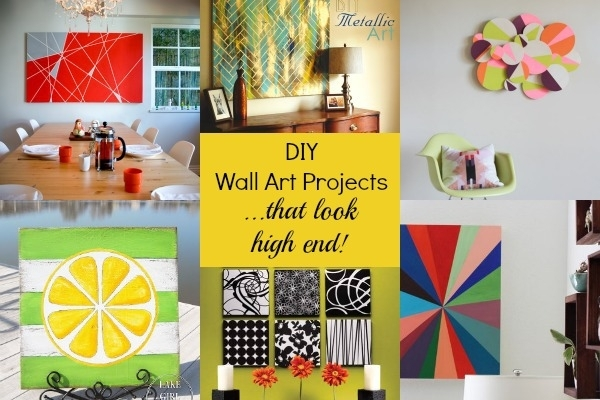 7 Gorgeous Diy Wall Art Projects That Look High End | Blissfully Pertaining To Diy Wall Art Projects (Image 6 of 10)