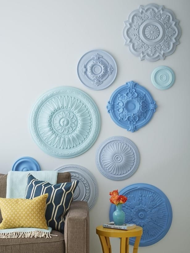 7 Ways To Fill Up Your Walls | Hgtv Magazine | Pinterest | Ceiling Within Ceiling Medallion Wall Art (Image 1 of 10)