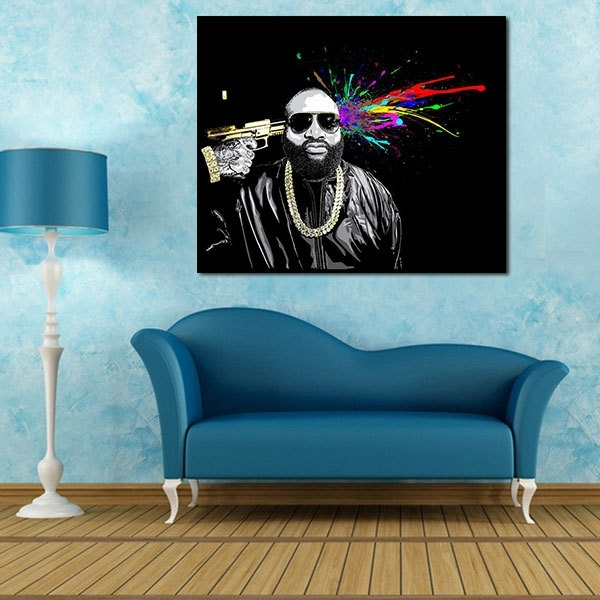A1/a2/a3 Digital Canvas Prints Mastermind Rick Ross Great Figure Art Throughout Ross Wall Art (Image 1 of 10)