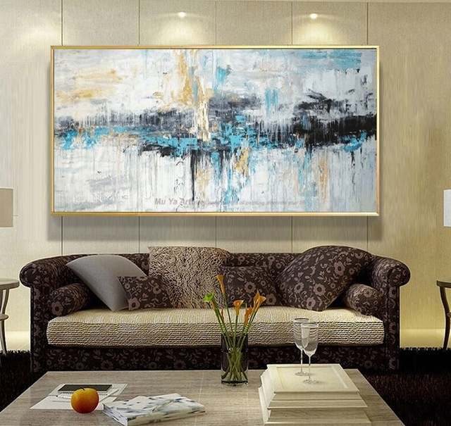 Abstract Art Painting Modern Wall Art Canvas Pictures Large Wall Pertaining To Living Room Wall Art (Image 2 of 10)