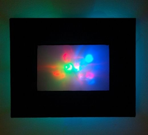 Abstract Led Wall Art Casts A Colorful Glow – Technabob Throughout Led Wall Art (Image 3 of 10)