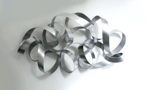 Abstract Metal Wall Sculpture Wall Art Designs Silver Metal Wall Art For Silver Metal Wall Art (Image 1 of 10)