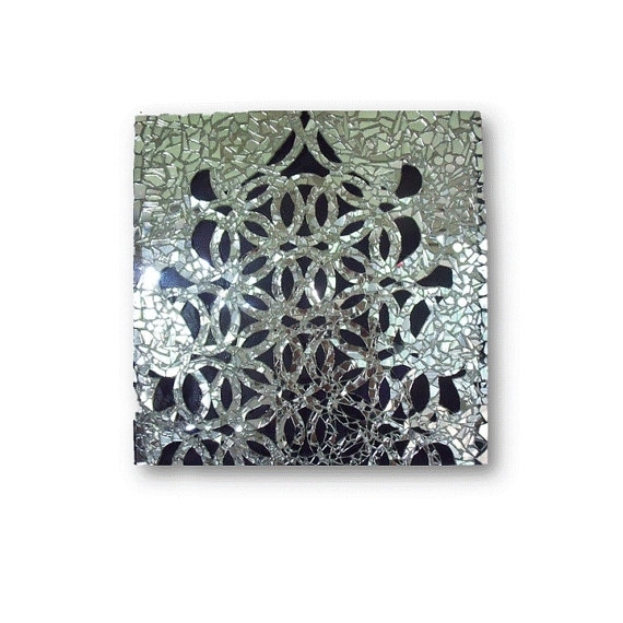 Aesthetic Mirror Mosaic Wall Art | Bargainfindsonebay Pertaining To Mirror Mosaic Wall Art (Image 2 of 10)