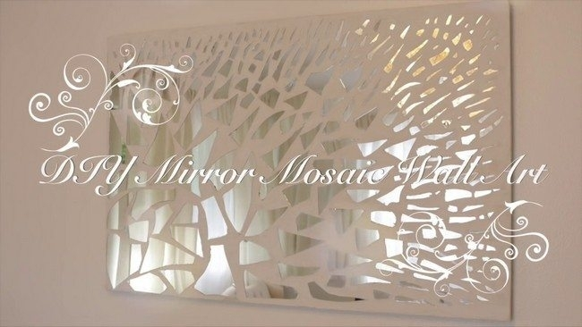 Aesthetic Mirror Mosaic Wall Art | Bargainfindsonebay With Mirror Mosaic Wall Art (Image 3 of 10)