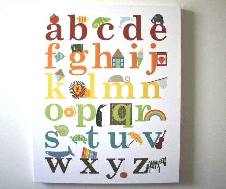 Alphabet Wall Art Of Alphabet Wall Art Great For Your Small Home Throughout Alphabet Wall Art (Image 2 of 10)