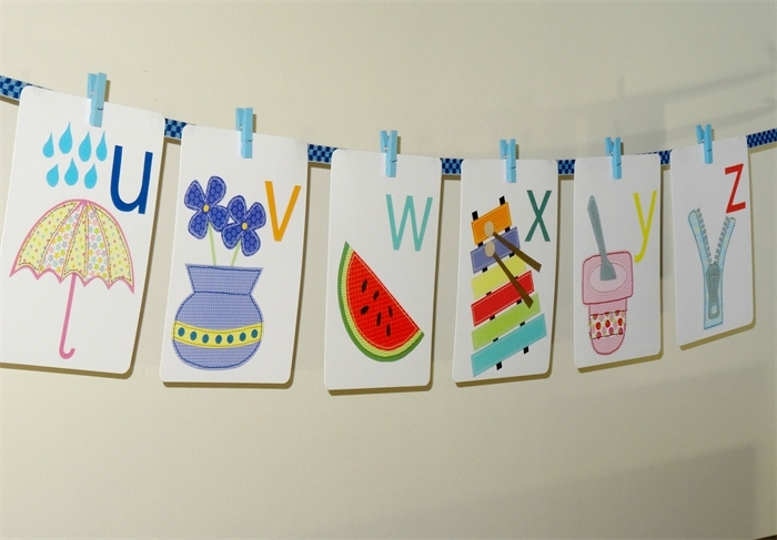 Alphabet Wall Cards – Alphabet Wall Art – Alphabet Flash Cards Pertaining To Alphabet Wall Art (View 6 of 10)