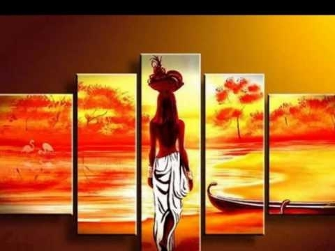 Amazing African Canvas Wall Art – Youtube Throughout African Wall Art (View 8 of 10)