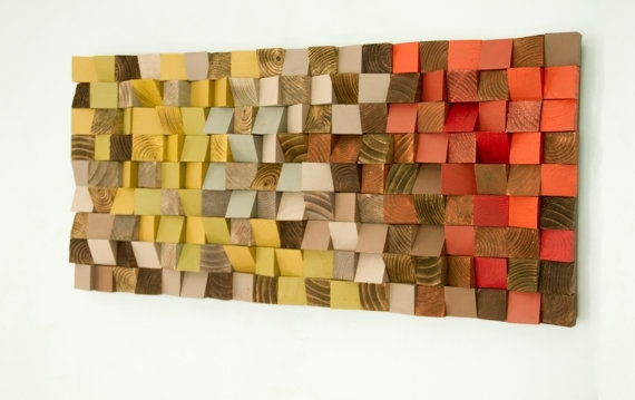 Amazing Reclaimed Wood Art Wood Wall Art Industrial Decor Fire In Wood Art Wall (Image 3 of 10)
