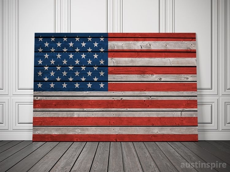 American Canvas Flag | Pinterest | Flags, Men Cave And Plank Regarding Rustic American Flag Wall Art (Image 2 of 10)