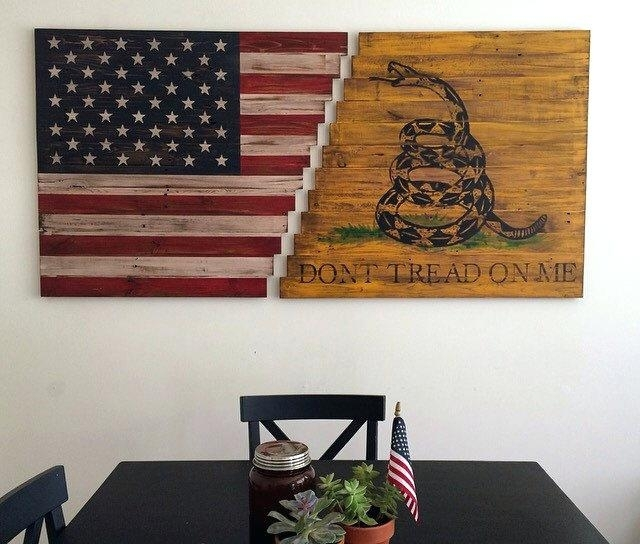 American Flag Wood Art Full Size Of Flag Wall Art With Flag Wall Art Within American Flag Wall Art (Image 6 of 10)