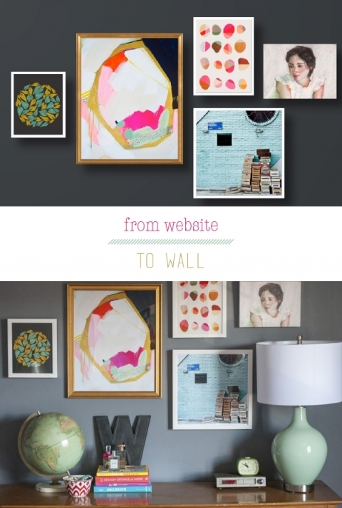 An Artfully Custom Wall – Dream Green Diy For Artfully Walls (Image 1 of 10)