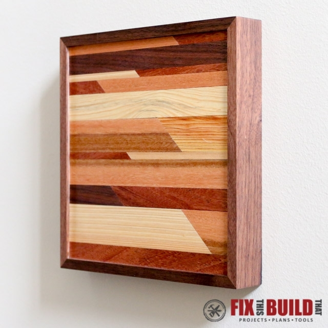 Ana White | Modern Wooden Wall Art – Diy Projects Within Diy Wood Wall Art (Image 4 of 10)