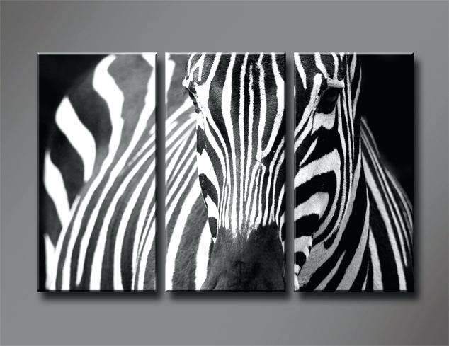 Animal Print Canvas Wall Art 5 Piece Photo Canvas Home Decor Blue Within Zebra Canvas Wall Art (Photo 5 of 10)