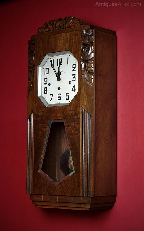 Antiques Atlas – Art Deco Wall Clock C. (View 8 of 10)