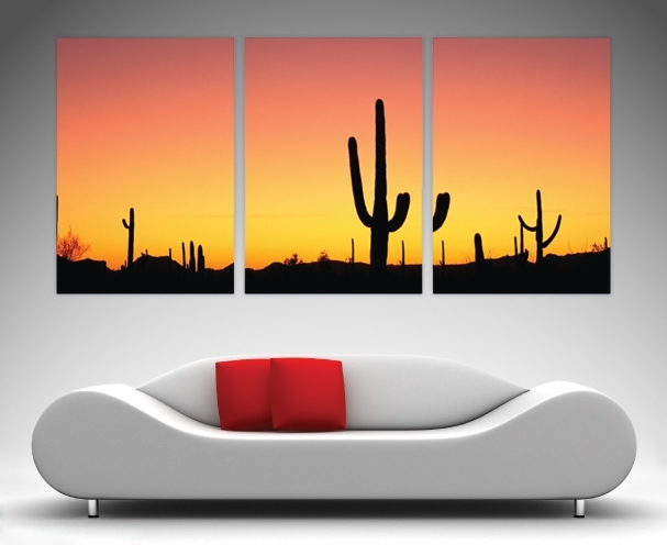 Arizona Triptych Art – Canvas Prints Australia Intended For Arizona Wall Art (View 2 of 10)