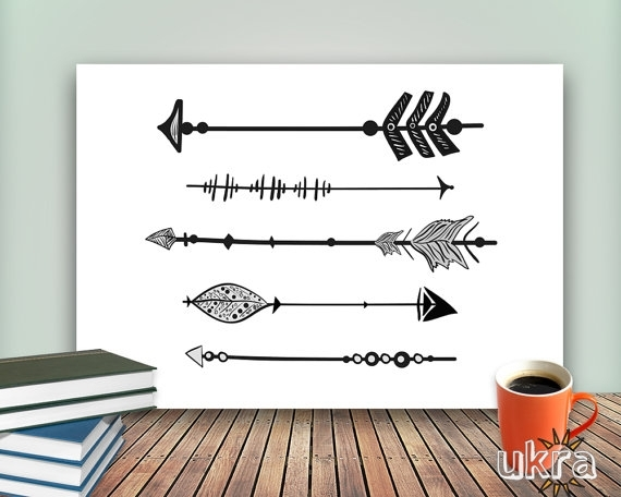 Arrow Art Print,printable Art Wall Decor,inspirational Wall Art Regarding Arrow Wall Art (Image 1 of 10)