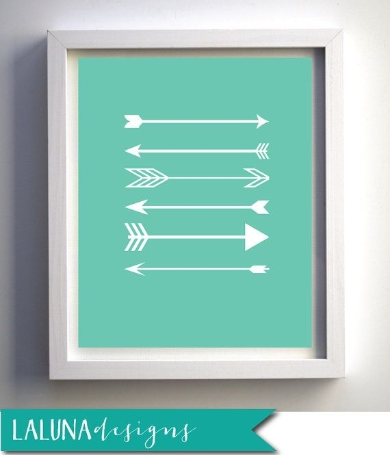 Arrow Print, Arrow Wall Art, Arrows Nursery Art, Arrow Art, Arrow Pertaining To Arrow Wall Art (Image 2 of 10)