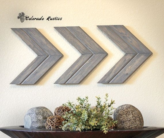 Arrow Wall Art, Chevron, Arrow Wall Décor, Rustic Wall Décor, Arrow Pertaining To Arrow Wall Art (Image 5 of 10)